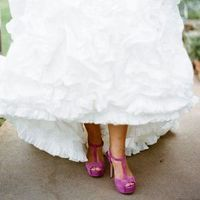 Pretty Purple Bridal Shoes