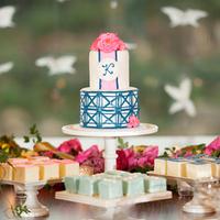 Preppy and Nautical Cake