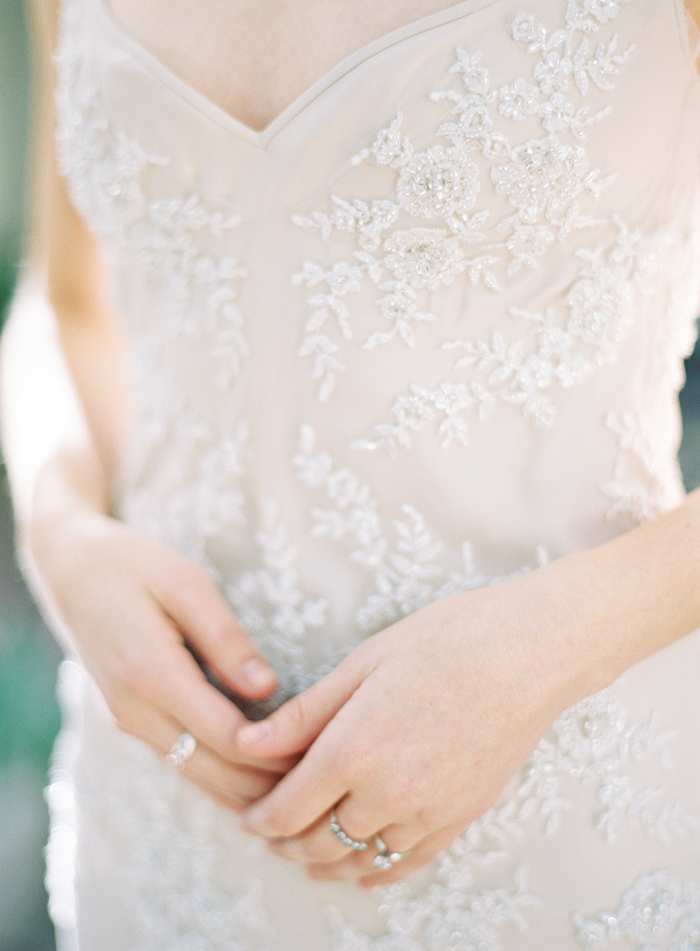 Delicately Beaded Wedding Dress