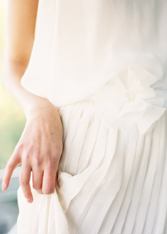 Drop-Waist Wedding Dress