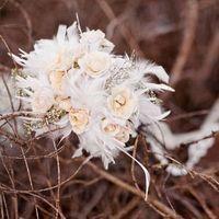 Winter Feather Bride Bouquet