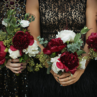Red Peony Winter Bouquets