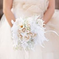 Winter Feather Bouquet