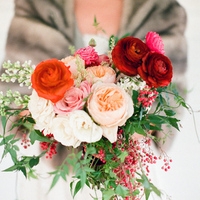 Pink and Red Winter Bouquet