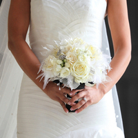 Ivory Feather Winter Bouquet