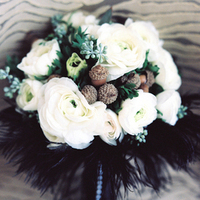 Black and White Winter Bouquet