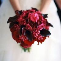 Red and Black Winter Bouquet