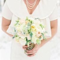 Peach and White Winter Bouquet