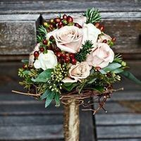 Rose and Berry Winter Bouquet