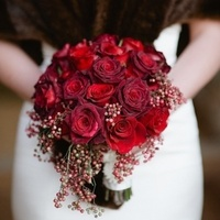 Red Rose Winter Bouquet