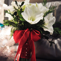 White Amaryllis Winter Bouquet