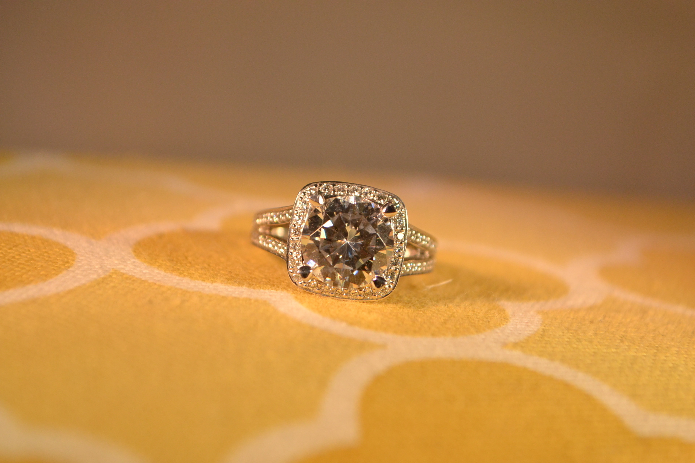 Classic Halo Engagement Ring