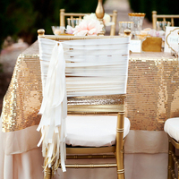 Glam Winter Chair Decor
