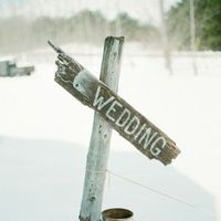 Winter Wedding Sign
