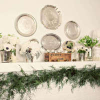 Winter Wedding Mantel