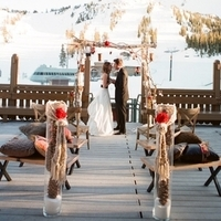 Outdoor Winter Wedding Ceremony
