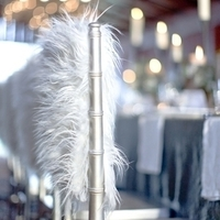 Feathered Winter Chair Decor