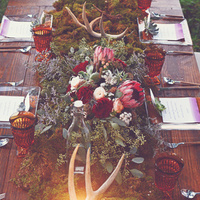 Rustic Winter Table Setting