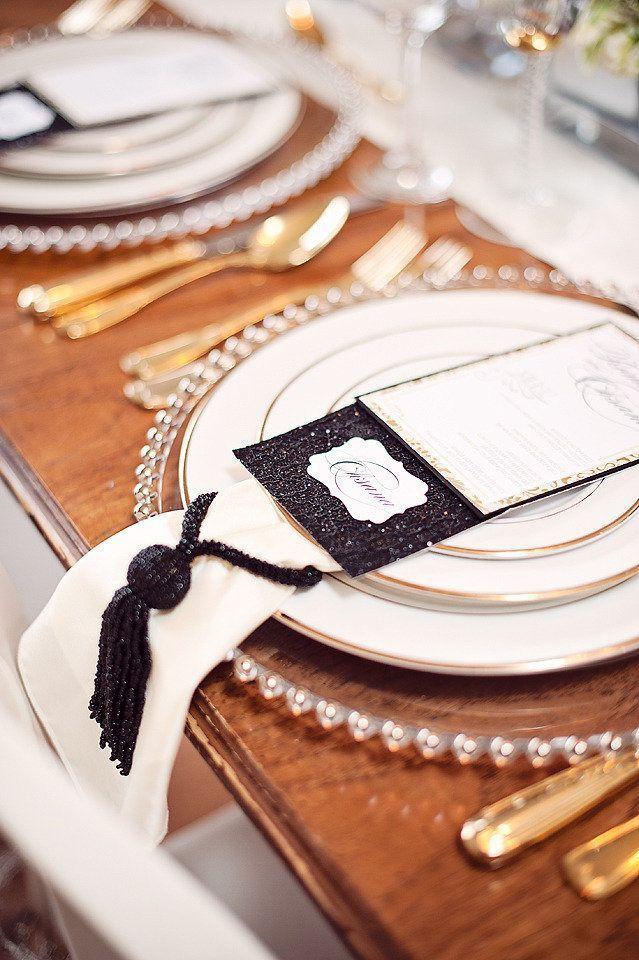 Glam Winter Place Setting