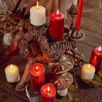 Winter Wedding Candles