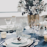 Winter Wedding Reception Table