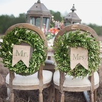 Wedding Chair Wreaths