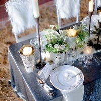 Winter Barn Wedding Table