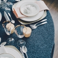 Eclectic Winter Table Setting