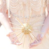 Gold Winter Wedding Decor