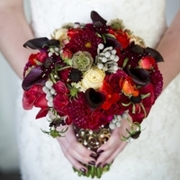 Red and Purple Winter Bouquet