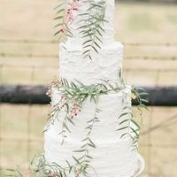 Eucalyptus Winter Wedding Cake