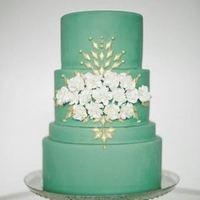 Green Winter Wedding Cake