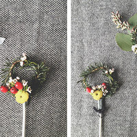 DIY: Mini Holiday Wreath Stir Stick