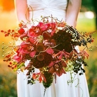 Unique Red and Burgundy Bouquet