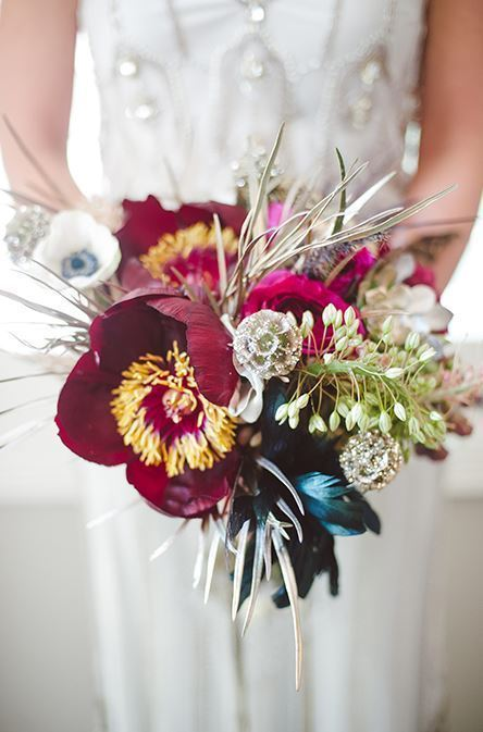 Glam Bohemian Bride Bouquet