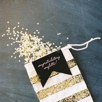Glitter confetti wedding favor