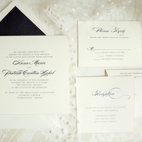 Black and White Classic Wedding Invitations