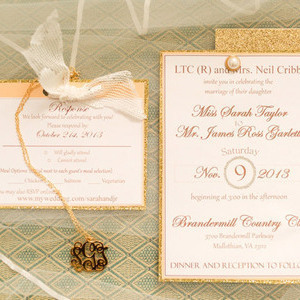 Gold Classic Wedding Invitations
