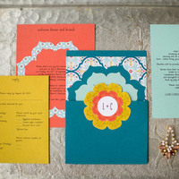 Wildflower Colorful Wedding Invitations
