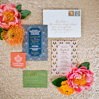 Art Deco Colorful Wedding Invitations
