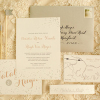 Confetti Romantic Wedding Invitations