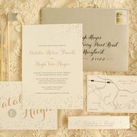 Confetti Romantic Wedding Invitations