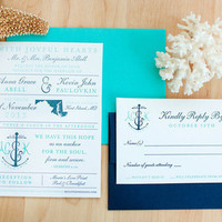 Chesapeake Bay Nautical Wedding Invitations