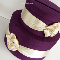 Plum and Champagne Card Box