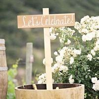 Vineyard Wedding Sign