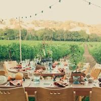 Vineyard Wedding Tablescapes