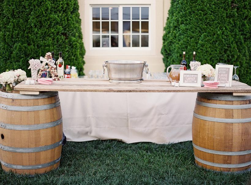 Vineyard Wedding Drink Station