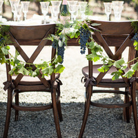 Vineyard Wedding Chair Decor