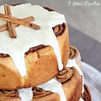 DIY Cinnamon Roll Wedding Cake Alternative Tutorial
