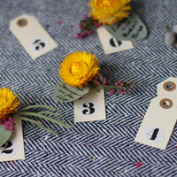 DIY: Eucalyptus Escort Cards with Fresh Flower Push Pin